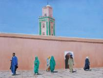 Passing in the Street - Morocco
